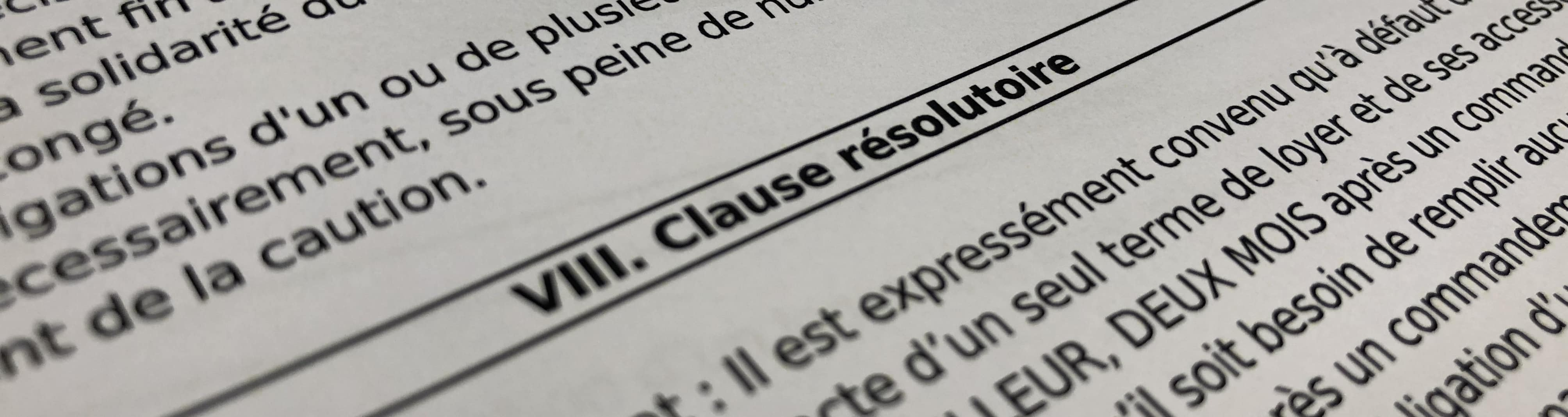 La clause résolutoire